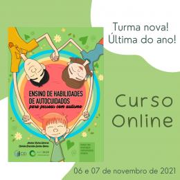 """Curso online """"ABA e Ensino de Habilidades de Autocuidados para Pessoas com Autismo"""""""
